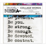Dina Wakley Media Collage Word Pack (MDA61083)