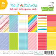 Lawn Fawn Really Rainbow Petite Paper Pack 6 x 6 (LF1655)