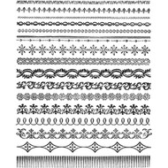 Tim Holtz Cling Rubber Stamp - Ornate Trims (CMS326)