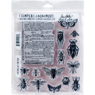 Tim Holtz Cling Rubber Stamp - Entomology (CMS328)