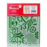 """Stamperia - Stencil - Gears & Hands 7.87""""X5.91"""" - PreOrder (KSD278)"""