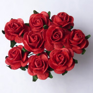 25mm Red Mulberry Open Roses