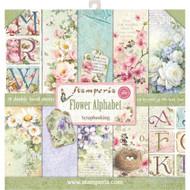 Stamperia - 12 x 12 Paper Pad - Flower Alphabet (SBBL30)