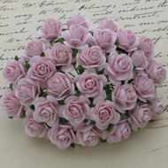 25mm Mulberry Open Roses Pale Pink