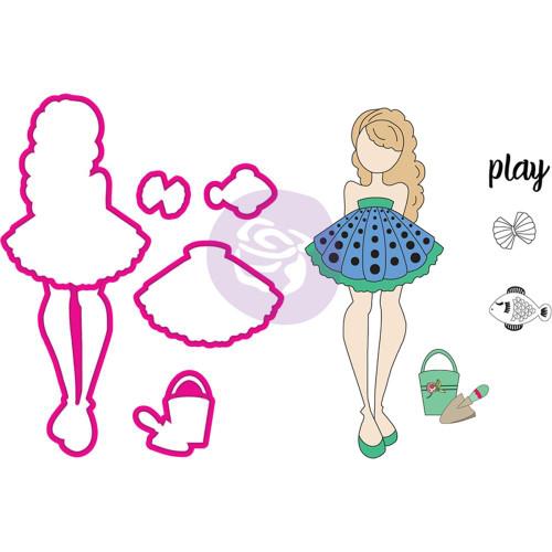 Prima Marketing - Julie Nutting Stamp & Die - Mermaid Kisses Shelly