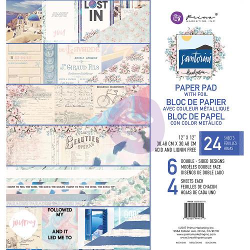 Prima Marketing - Santorini - 12 x 12 Paper Pad