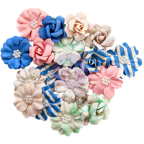 Prima Marketing - Santorini Mulberry Paper Flowers - Firostefani