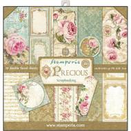 Stamperia - 12 x 12 Paper Pad - Precious (SBBL24)