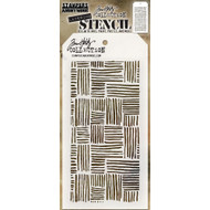Tim Holtz Layering Stencil - Thatched - THS104