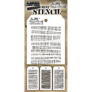 Tim Holtz Mini Layering Stencil - Set 34
