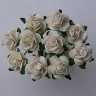 20mm Mulberry Open Roses Ivory