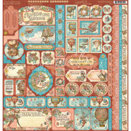 Graphic 45 - Imagine - Decorative Sticker Sheet