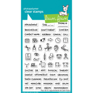 Lawn Fawn Plan On It: Appointments Stamp Set (LF1697)