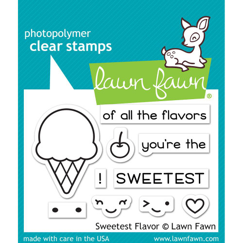 Lawn Fawn Sweetest Flavor Stamp Set (LF1698)