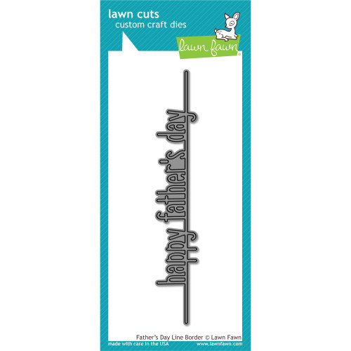 Lawn Fawn Father's Day Line Border Lawn Cut (LF1708)
