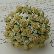 15mm Mulberry Open Roses Cream