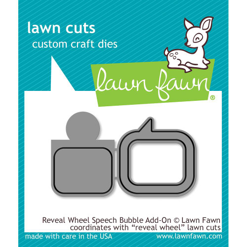 Lawn Fawn Reveal Wheel Speech Bubble Lawn Cut (LF1702)