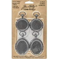 Tim Holtz Idea-Ology Metal Watch Cameos (TH93264)