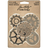 "Tim Holtz Idea-Ology Metal Gadget Gears 1.5"" To 2"" 5/Pkg (TH93297)"