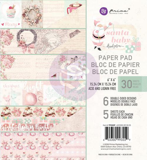 Prima Marketing - Santa Baby - 6 x 6 Paper Pad