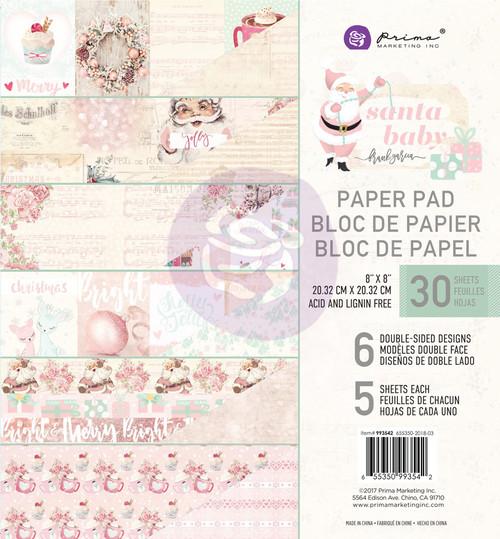 Prima Marketing - Santa Baby - 8 x 8 Paper Pad