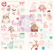 Prima Marketing - Santa Baby - Chipboard Stickers