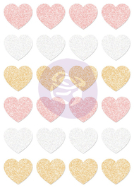 Prima Marketing - Santa Baby - Glitter Stickers - Hearts