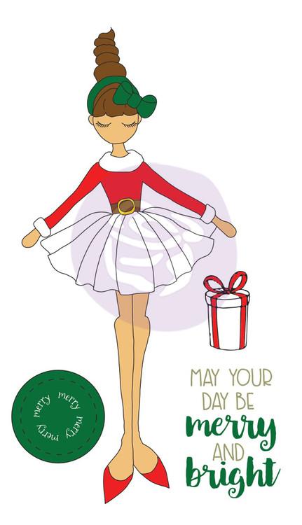 Prima Marketing - Julie Nutting Stamp - Merry Doll