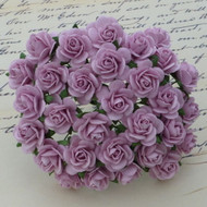 10mm Mulberry Open Roses Lilac
