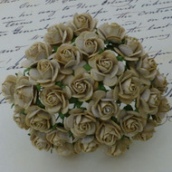 15mm Mulberry Open Roses Light Mocha
