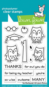 Lawn Fawn So Owlsome Clear Stamp (LF1757)