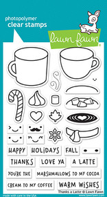 Lawn Fawn Thanks A Latte Clear Stamp