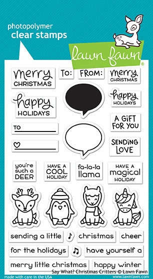 Lawn Fawn Say What? Christmas Critters Clear Stamp