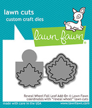 Lawn Fawn Reveal Wheel Fall Leaf Add-On Lawn Cuts