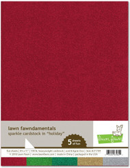 Lawn Fawn Sparkle Cardstock - Holiday