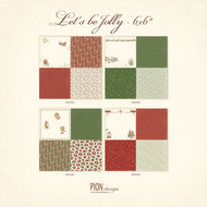 Pion Design - Let's Be Jolly - 6 x 6 - Collection