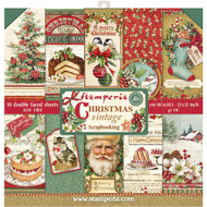 Stamperia - 12 x 12 Paper Pad - Christmas Vintage
