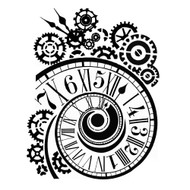 Stamperia - Stencil - Clock & Mechanisms