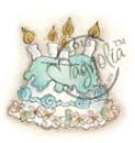 MAGNOLIA STAMPS LITTLE ROSE CAKE