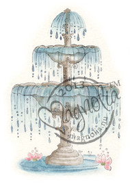 Magnolia Stamps Royal Rippling Fountain