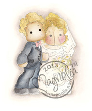 Magnolia Stamps Vintage Bridal Couple