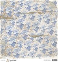 Magnolia Stamps Paper Vintage Ink Blue Roses