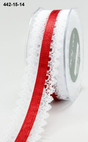 White Lace Red Satin Center