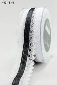 White Lace Black Satin Center
