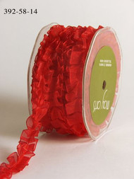 Sheer Box Pleat - Red