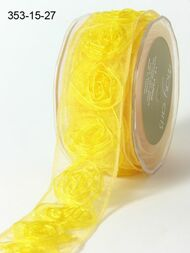 Sheer Rosette - Yellow