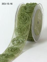 Sheer Rosette - Olive