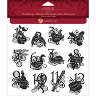 Graphic 45 - Twelve Days of Christmas - Cling Stamp 2