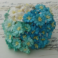 Wild Orchid Crafts Cosmo Daisy Aqua/Blue