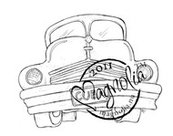 Magnolia Stamps - EDWIN'S OLDSMOBILE Rubber Stamp